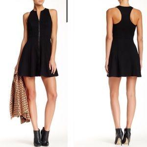 Trina Turk Sz 0 Bishop Mini Dress Quilted Black